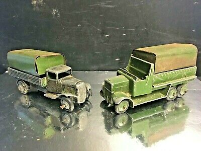 WWII 1940's Dinky Diecast Army Covered Trucks • 14.50£
