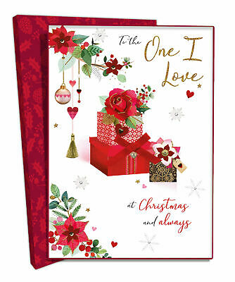 Boxed To The One I Love Luxury Lavish Keepsake Christmas Greeting Card • 9.99£
