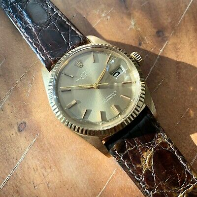 $ CDN5939.85 • Buy Vintage 1963 Rolex Datejust 1601 18k Solid Gold With Alpha Hands Rare Dial
