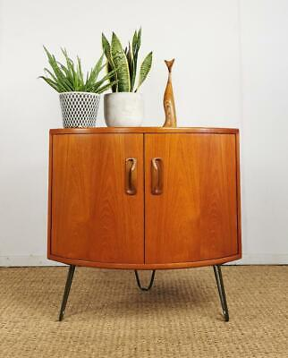Vintage Retro Mid Century G-Plan Hairpin Bedside Corner Cabinet Side Table • 195£