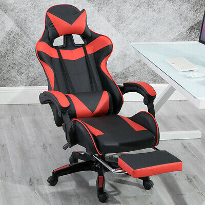 £89.95 • Buy Executive Racing Gaming Computer Office Chair Adjustable Swivel Recliner Leather