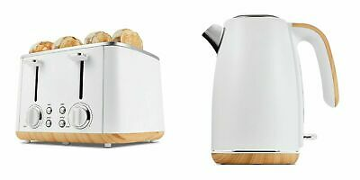 AU118.28 • Buy White Toaster 4 Slice & Cordless 1.7L Kettle Stainless Steel Electric Set