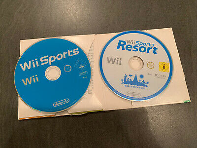 Wii Sports & Wii Sports Resort Game Discs - Tested And Working • 10.99£
