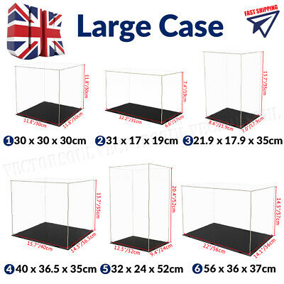£14.99 • Buy Large Acrylic Display Case Dustproof Box Perspex Clear Collectibles Model UK