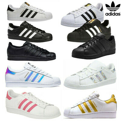 Brand Superstar UK Mens Womens Unisex Foundation Retro Shell Toe Trainers Shoes • 19.98£