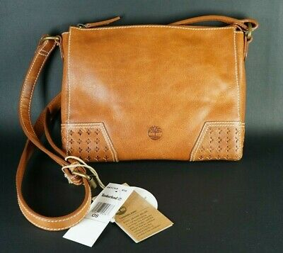 Timberland Cascade Falls Women's Small Tan Leather Crossbody / Shoulder Bag Bnwt • 89.99£