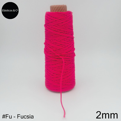 $ CDN3.05 • Buy 10m | Fuchsia Soft Elastic Cord 2mm Hanging Sewing For Face Mas DYI