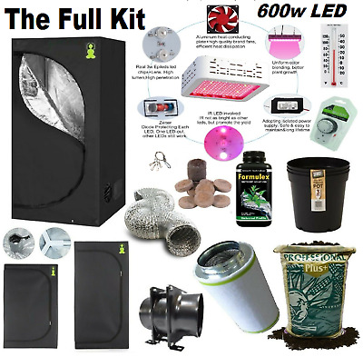 £224.99 • Buy Complete 600w Led Grow Tent Kit Set Up + ALL SIZES Indoors Hydroponics Herb Room