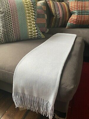 N Peal Cashmere Shawl Bed Throw Loro Piana Cucinelli Hermes • 245£