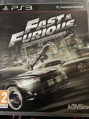 Sony PS3 Fast And Furious Showdown With Very Fast UK Shipping • 1.10£