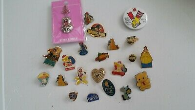 Bundle Of Vintage Badges Including Disney, Animals & Various Charities   • 1.99£