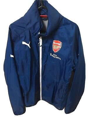 Arsenal Puma Rain Jacket Size Medium M Concealed Hood • 4.99£