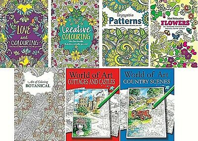 Mind Relaxing Colouring Books For Adults/older Children - A4 Books  • 2.95£