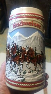 $ CDN11.77 • Buy Vintage Budweiser Clydesdale 1985 Holiday Beer Stein A Series Limited Edition
