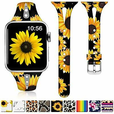 $ CDN21.09 • Buy Sunflower Bands For Apple Watch 40mm 38mm IWatch Slim Silicone Series 1 2 3 4 5