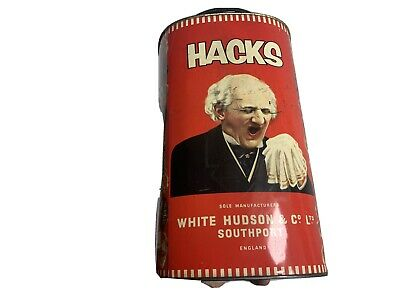 2 Very Large Shop Display C.1950's Vintage Hacks Cough Sweet Tin. • 17£
