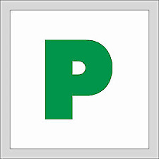 Magnetic Green P Plates New Driver UK • 1.99£