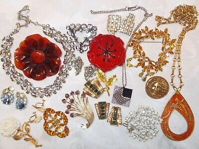$ CDN149 • Buy Vintage Jewelry Lot Rhinestones Signed