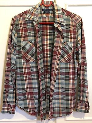 Ralph Lauren Polo Check Tartan Shirt Size 8 • 2.80£
