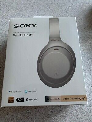 Sony WH-1000XM3 Wireless Noise Canceling Bluetooth Headphones Silver NEW • 116£