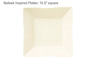 BELLEEK LIVING Inspired Platter Plate Dish Bowl 10  Square Immaculate • 19£