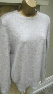 Marks And Spencer Autograph Pure Cashmere Grey Jumper Size 8 • 9.99£