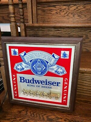 $ CDN104.47 • Buy Vintage Budweiser Lighted Beer Sign Clydesdale Horses Union Made 13x13 Working