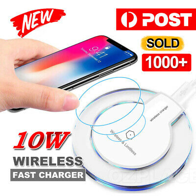 AU5.95 • Buy For IPhone12 Pro Max XS XR Wireless Charger Charging Pad For Samsung S20 S10 9