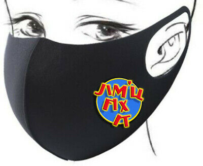 Face Mask Washable Facemask Jim Will Fix It For Me Jimmy Jim'll Fixed Saville • 6.95£
