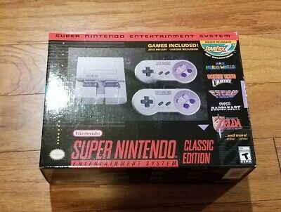 $ CDN198.22 • Buy Super Nintendo Entertainment System SNES Classic Mini Edition 100% Authenic NEW-