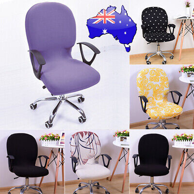 AU14.95 • Buy Stretch Swivel Chair Covers Slipcover Polyester Office Wedding Cover Removable