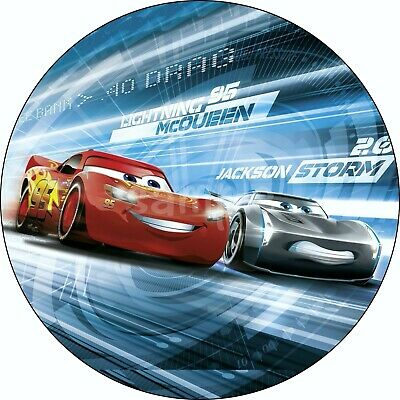 £4.49 • Buy Cars Lightning Mc Queen Edible Cake Topper Wafer Paper Birthday Party Deco New