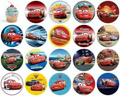 Cars Lightning Mc Queen Edible Cake Topper Wafer Paper Birthday Party Deco New  • 4.20£