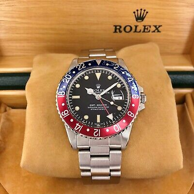 $ CDN14534.64 • Buy Vintage Rolex 40mm Pepsi GMT Master II Stainless Steel Watch Ref Number 16570