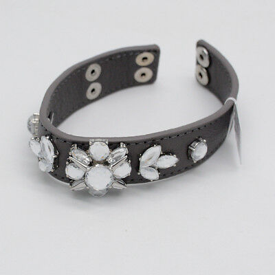 $ CDN12.02 • Buy Lia Sophia Jewelry Wrap Leather Belt Bracelet Snap Button Cut Crystals Bangle