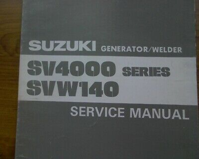 AU12 • Buy Yamaha SV4000 SVW140 GENERATOR WELDER Service, Workshop Repair Manual Book