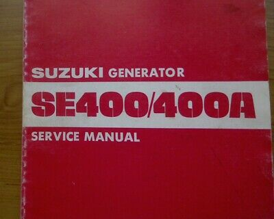 AU10 • Buy Yamaha SE400 SE400A GENERATOR Service, Workshop Repair Manual Book