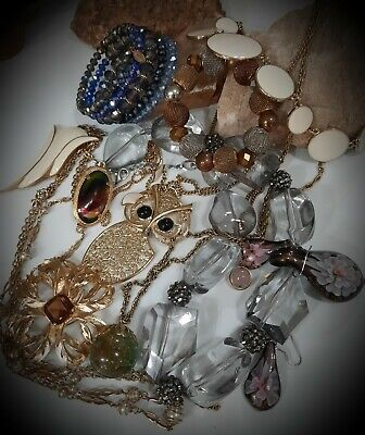 $ CDN19.95 • Buy Vintage~sarah Coventry Lot Beautiful Necklaces Brooch,crystal~stone~pendantmore!