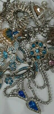 $ CDN16.95 • Buy 💖High End Rhinestones,Crystal,Glass Vintage Jewelry Lot!Ring, Necklaces,More💋
