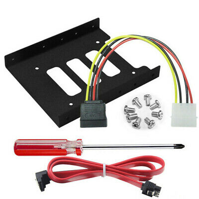 AU3.98 • Buy 2.5  SSD HDD To 3.5  Metal Mounting Adapter Bracket Dock Hard Drive Holder+Cable