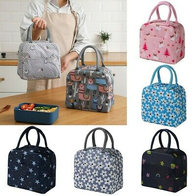 AU14.99 • Buy Cartoon Printed Lunch Bag Portabble Insulated Thermal Cool Bags Picnic Food Box