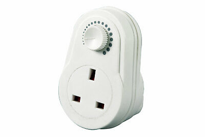 White UK Plug In Adjustable Dimmer Switch Home Lamp Light Intensity Control 13A • 116.99£