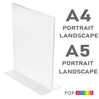 Menu Holder, Display Stands, Double Sided, A4, A5, Crystal Clear. BEST PRICE! • 19.20£