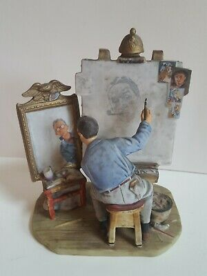 $ CDN158.57 • Buy Norman Rockwell Triple Self Portrait Ceramic Figurine 1978 Gorham Rare