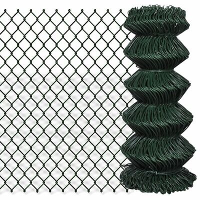 VidaXL Chain Fence 0.8x25m Green Garden Patio Wire Mesh Panel Fencing Barrier • 47.99£