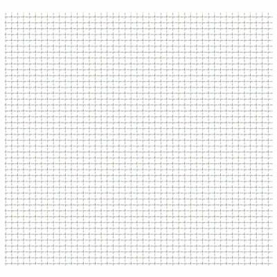 VidaXL Crimped Wire Mesh Panel 50x50cm 11x11x2mm Stainless Steel Fence Barrier • 15.99£