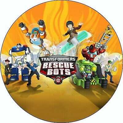£4.20 • Buy Transformers Rescue Bots Edible Cake Topper Wafer Paper Birthday Party Deco New