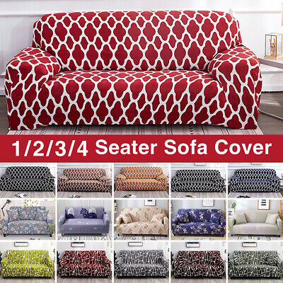 AU38.95 • Buy Sofa Cover Couch Lounge 1/2/3/4 Seater Protector Slipcovers Stretch Covers AU