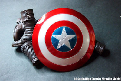 $ CDN31.40 • Buy 1/6 Captain America Shield Metal Can Buckle Hand For 12'' Action Figure Hot Toys