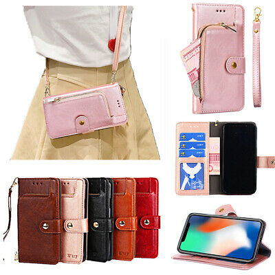 AU14.98 • Buy For OPPO Magnetic Flip Leather Crossbody Wallet Card Slot Hand Strap Stand Case